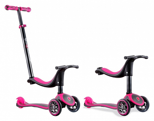 Y-scoo Globber Titanium My free seat (4 in 1) Pink
