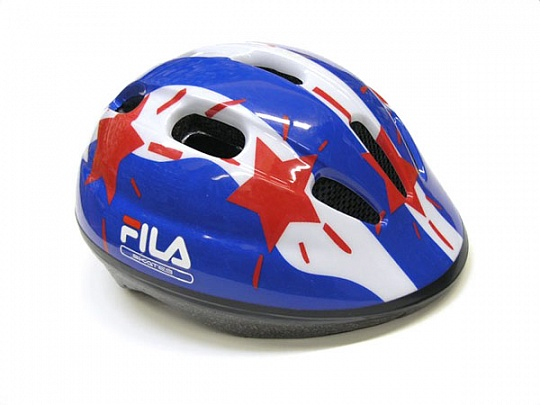 Fila Helmet Boys Blue/Red