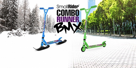 Small Rider Combo Runner BMX, Green