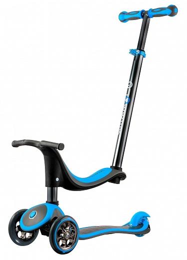 Y-scoo Globber Titanium My free seat (4 in 1) Blue