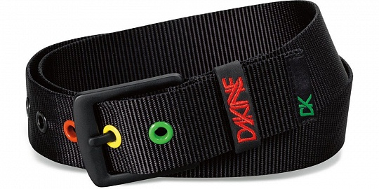 Dakine Ремень Ryder Belt Black/Rasta