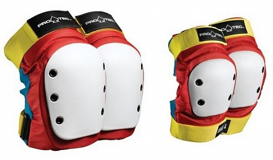 Pro-Tec Street Knee/Elbow Pad Set Retro